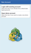 MetaQuotes MetaTrader: New Account